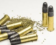 Long rifle Rimfire Ammunition Stock Photo