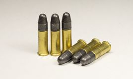Long rifle Rimfire Ammunition Royalty Free Stock Images