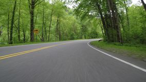 Long Right Hand Curve in Great Smoky Mountains. Of Tennessee stock video