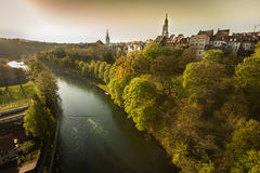 The long river. The long liver in Berne, Switzerland stock images