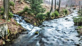 Long River Timelapse 4k. Long distance timelapse over a river in the mountains. 4k quality stock video