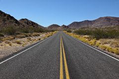 Long road ahead of Death Valley National Park Stock Image