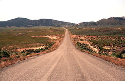 Long Road Ahead. On road trip in the USA travelling through Nevada Royalty Free Stock Photography