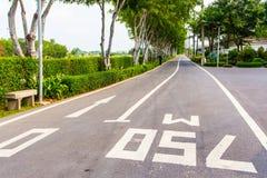 Long Road. The road asphalt Stock Images
