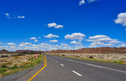 Long road and beautiful sky Royalty Free Stock Images