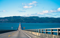 Long Road bridge over the Columbia River in Astoria in the Pacif Royalty Free Stock Photography