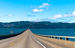 Long Road bridge over Columbia River in Astoria in Pacific Stock Photography