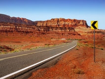 Long Road Desert Landscape Stock Image