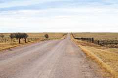 Long Road and Empty Stock Photo