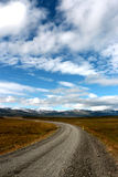 The long road in iceland Stock Photo