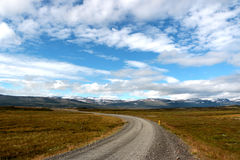 The long road in iceland Royalty Free Stock Image