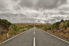 Long road on Madeira Stock Photos