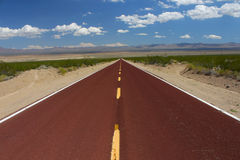 Long Road Through the Mojave Desert Stock Photo
