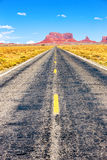Long Road at Monument Valley Royalty Free Stock Images