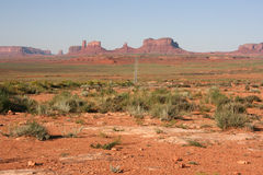Long road into Monument Valley. Stock Images