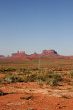 Long road into Monument Valley. Stock Image