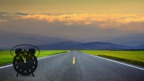 long road in mountains, panoramic image, Taiwan Stock Photos