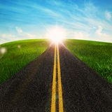 Long road in nature Stock Image