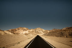 Long Road. Surround by unique landscape Royalty Free Stock Photography