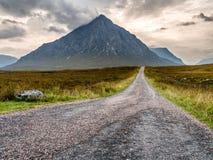 The long road to Glencoe Stock Photography