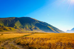 Long Road to Heaven. Paradise from Mt. Bromo Indonesia royalty free stock photos