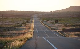 Long road to horizon background Royalty Free Stock Photography