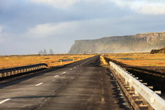 Long road to Iceland Royalty Free Stock Image