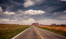 Long road to Monument Valley Royalty Free Stock Image