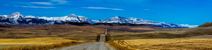 The Long Road To The Mountains Royalty Free Stock Image