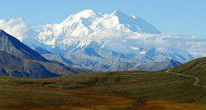 Long Road to Mt. McKinley Stock Images