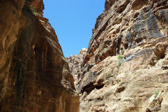 The long road to Petra. Jordan. Royalty Free Stock Images