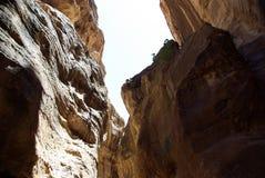 The long road to Petra. Jordan. Royalty Free Stock Photography
