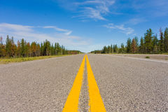 The long road to yellowknife Royalty Free Stock Image