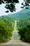 Long road up hill mountain  view Royalty Free Stock Images