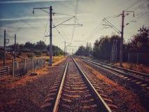 Long roadway. Long train roadway royalty free stock image