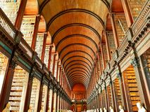 The Long Room in Trinity College Stock Photo