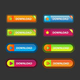 Long round buttons Royalty Free Stock Photo
