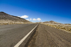 Long routes through the vast plain Royalty Free Stock Images