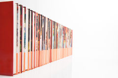 A long row of books Stock Photos