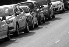 On street parking Royalty Free Stock Images
