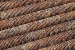 Long rusted bolts Royalty Free Stock Photography