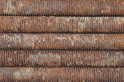 Long rusted bolts Stock Photography