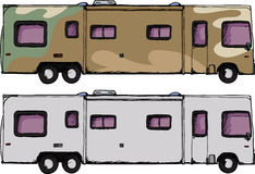 Long RV Camper Stock Images