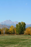 Long's Peak. A scenic view of Long's Peak in the Fall royalty free stock photo