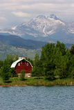 Long's Peak & Barn Stock Image