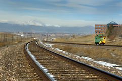 Long's Peak from Broomfield tracks Royalty Free Stock Photography
