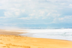 Long Sand Atlantic Beach with ocean waves Royalty Free Stock Photography