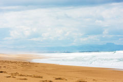 Long Sand Atlantic Beach with ocean waves Royalty Free Stock Images