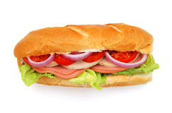 Long sandwich with ham Royalty Free Stock Images