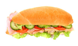 Long sandwich isolated Royalty Free Stock Photography